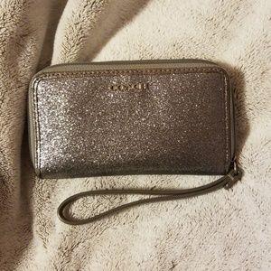 Coach Glitter Wristlet Wallet